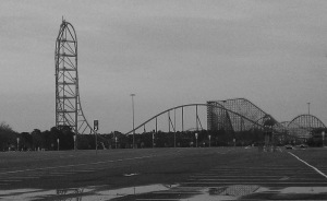 The silhouette of Kingda-Ka