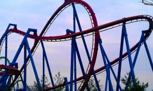 Abstract study of the Superman ride
